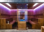 sauna on zlota 44 luxury apartment building in Warsaw