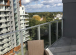 view from balcony hallera apartment gdansk for rent