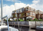 Luxury apartments for sale in Gdansk with marina boat slips