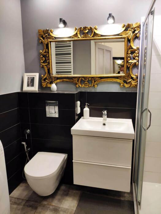 bathroom cheap apartment gdansk