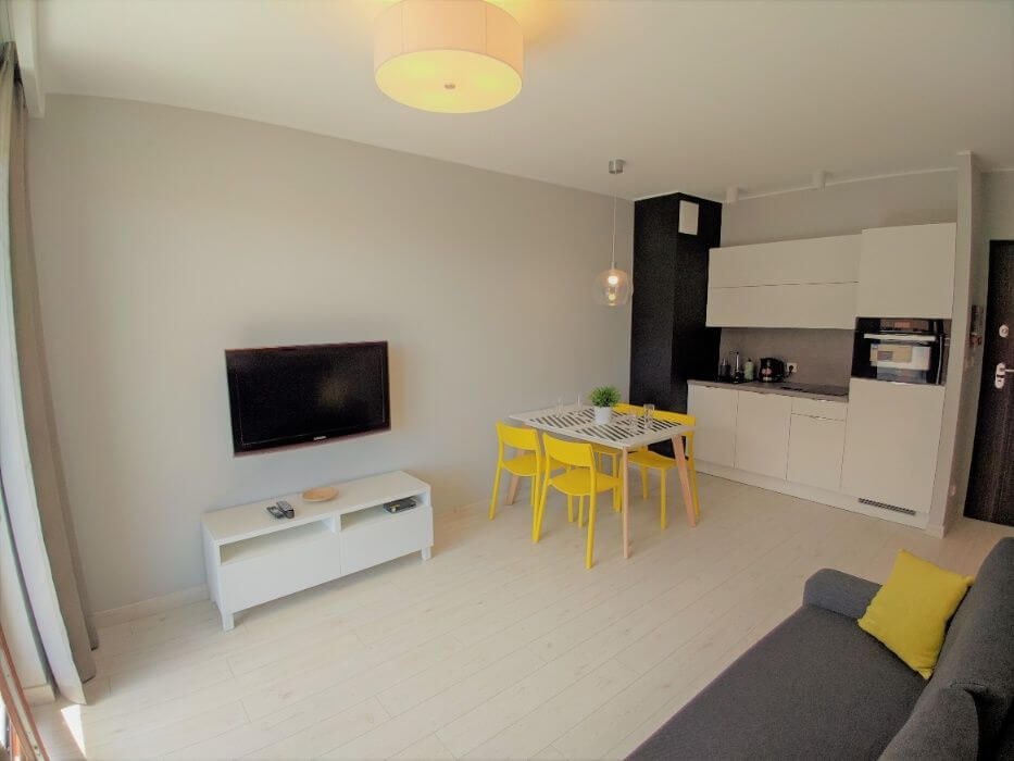 kitchenette aura poland gdansk apartment for rent